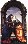 ALBERTINELLI  Mariotto Visitation jj oil