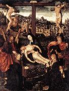 CORNELISZ VAN OOSTSANEN, Jacob Crucifixion with Donors and Saints fdg china oil painting reproduction