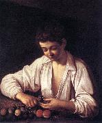 Caravaggio Boy Peeling a Fruit df china oil painting reproduction