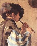 TERBRUGGHEN, Hendrick The Flute Player et china oil painting reproduction
