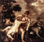 TIZIANO Vecellio Venus and Adonis  R china oil painting reproduction