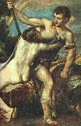 TIZIANO Vecellio Venus and Adonis, detail AR china oil painting reproduction