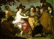 VELAZQUEZ, Diego Rodriguez de Silva y The Topers (The Rule of Bacchus) e china oil painting reproduction