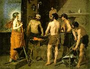 VELAZQUEZ, Diego Rodriguez de Silva y The Forge of Vulcan we china oil painting reproduction