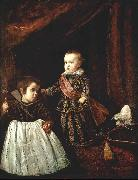 VELAZQUEZ, Diego Rodriguez de Silva y Prince Baltasar Carlos with a Dwarf r china oil painting reproduction