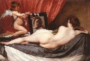 VELAZQUEZ, Diego Rodriguez de Silva y Venus at her Mirror (The Rokeby Venus) g china oil painting reproduction