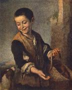 MURILLO, Bartolome Esteban Boy with a Dog sgh china oil painting reproduction
