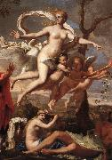 POUSSIN, Nicolas Venus Presenting Arms to Aeneas (detail) af china oil painting reproduction