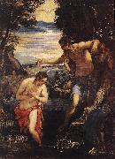 TINTORETTO, Jacopo Baptism of Christ  sd china oil painting reproduction