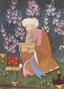 Ali of Golconda Poet in a garden china oil painting reproduction