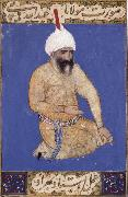 Bihzad Portrait of the poet Hatifi,Jami s nephew,seen here wearing a shi ite turban china oil painting reproduction