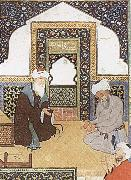 Bihzad A shaykh in the prayer niche of a mosque china oil painting reproduction
