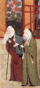 Bihzad Portrait of jami leaning on a staff,with another scholar of Sultan Husayn-s court china oil painting reproduction