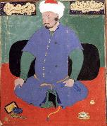Bihzad Portrait of the Uzbek emir Shaybani Khan,seen here wearing a Sunni turban china oil painting reproduction