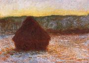 Claude Monet Grainstack,Thaw,Sunset china oil painting reproduction