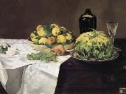 Edouard Manet Fruits et Melon sur un Buffet china oil painting reproduction