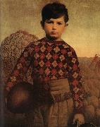 Grant Wood The Sweater of Plaid china oil painting reproduction