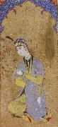 Muhammadi of Herat The Lady Beloved sits framed within the prayer niche china oil painting reproduction
