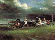 Theodore Gericault The Derby at epson china oil painting reproduction