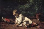 Thomas Eakins The Baby play on the floor china oil painting reproduction