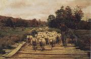 A. Bryan Wall Shepherd and Sheep oil