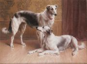 Carl Reichert Hounds in an Interior china oil painting reproduction