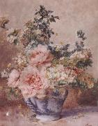 F.Rivoire Apple Blossoms with Peonies china oil painting reproduction