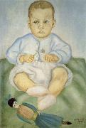 Frida Kahlo The little girl fold the diaper china oil painting reproduction