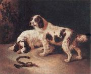 George Horlor Brittany Spaniels china oil painting reproduction