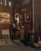 Gustave Caillebotte The Studio having fireplace china oil painting reproduction