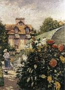 Gustave Caillebotte Big Chrysanthemum in the garden china oil painting reproduction