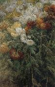 Gustave Caillebotte The chrysanthemum in the garden china oil painting reproduction