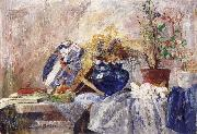 James Ensor Still life with Blue Vase and Fan china oil painting reproduction