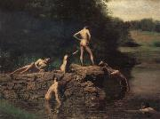 Thomas Eakins The Swiming Hole china oil painting reproduction