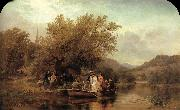 Albert Fitch Bellows Life-s Day or Three Times Across the River oil