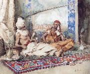 Attilio Simonetti Arabs in an interior china oil painting reproduction