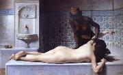 Edouard Debat Ponsan The Massage Scene from the Turkish Baths china oil painting reproduction
