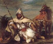 Eugene Delacroix A Moroccan from the Sultan-s Guard china oil painting reproduction