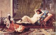 Frederick Goodall A New Attraction in t he Harem china oil painting reproduction
