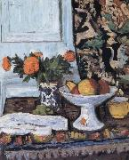 George Leslie Hunter Still Life with Fruit and Marigolds in a Chinese Vase china oil painting reproduction