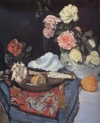 George Leslie Hunter Fruit and Flowers on a Draped Table china oil painting reproduction