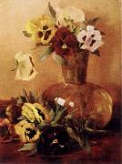 Hirst, Claude Raguet Pansies in a Glass Vase china oil painting reproduction