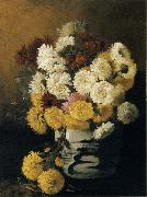 Hirst, Claude Raguet Chrysanthemums in a Canton Vase china oil painting reproduction