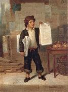 James H. Cafferty Newsboy Selling New-York china oil painting reproduction