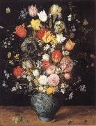Jan Brueghel The Elder Flower in a blue vase china oil painting reproduction