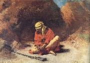 Leon Bonnat Arab Removing a Thorn from his Foot china oil painting reproduction