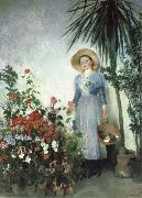 Olga Boznanska In the Hothouse china oil painting reproduction