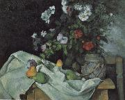 Paul Cezanne Still Life with Flowers and Fruit china oil painting reproduction