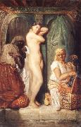 Theodore Chasseriau Young woman coming out of the bath china oil painting reproduction