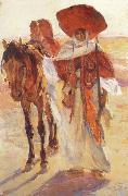 Victor Prouve Arab Horseman china oil painting reproduction